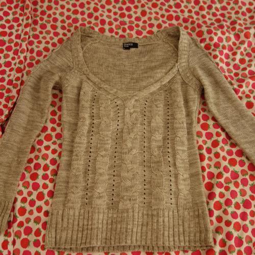 Jerseys beige línea tricot