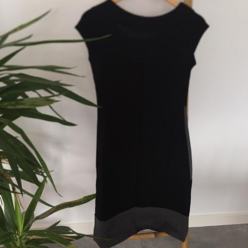 Vestido negro+gris