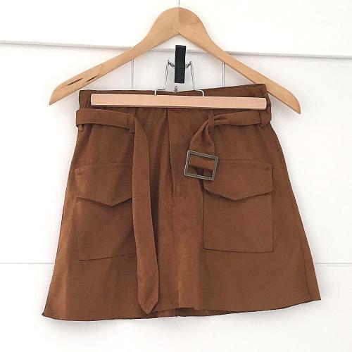 Falda marrón de Zara