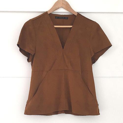 Camisa marrón de Zara