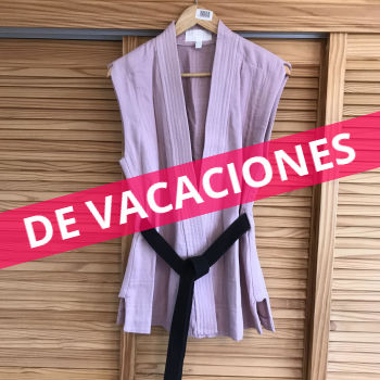 Chaleco tipo kimono