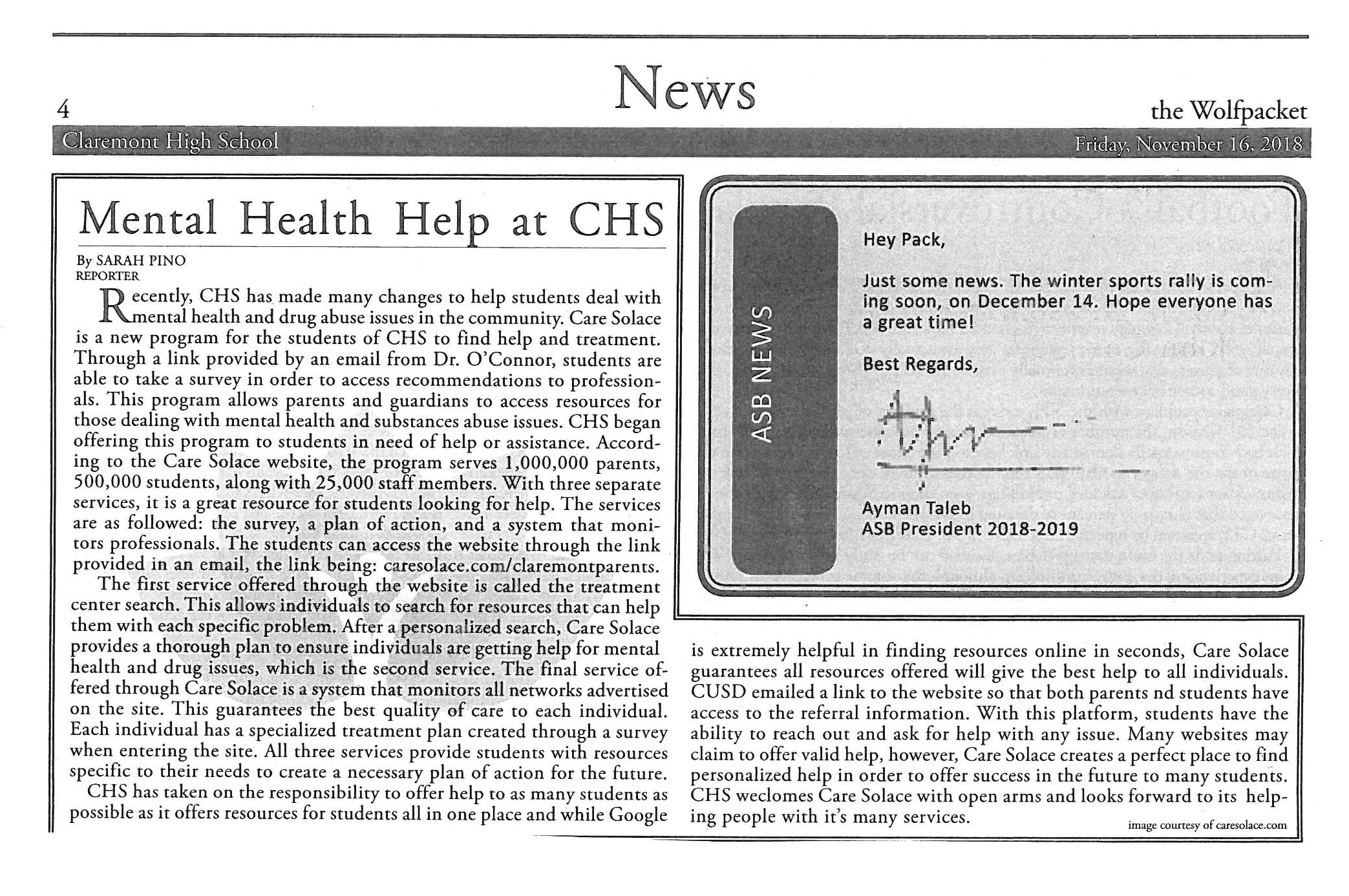 Claremont Article