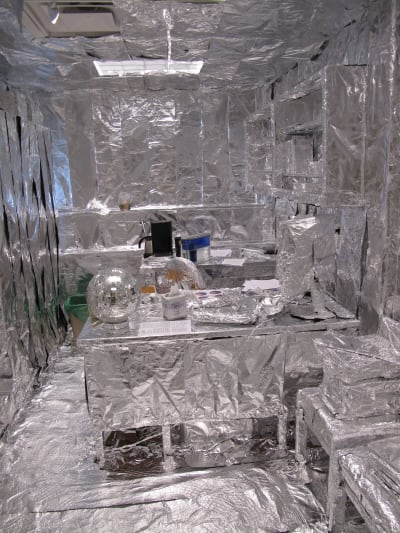 Aluminium Foiled Rooms - © Attention Deficit Disorder Prosthetic Memory Program