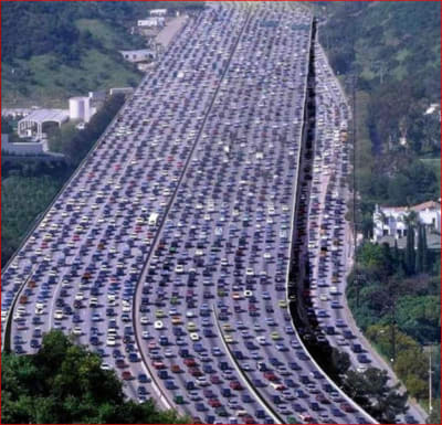 China National Highway 110 traffic jam - © Attention Deficit Disorder Prosthetic Memory Program