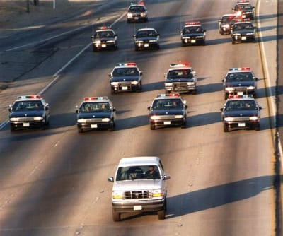 O.J. Simpson Bronco Chase - © Attention Deficit Disorder Prosthetic Memory Program