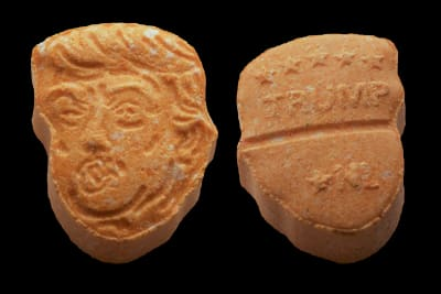Donald Trump-shaped ecstasy pills - © Attention Deficit Disorder Prosthetic Memory Program