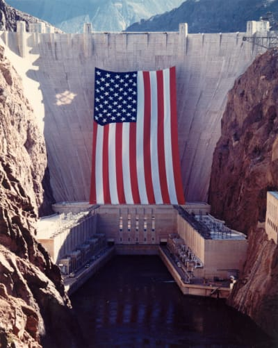 Hoover Dam Flag - © Attention Deficit Disorder Prosthetic Memory Program