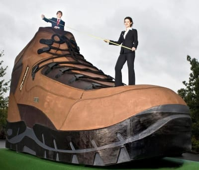 Largest Hiking Boot - © Attention Deficit Disorder Prosthetic Memory Program