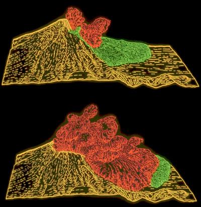 Mount St Helens Eruption - © Attention Deficit Disorder Prosthetic Memory Program