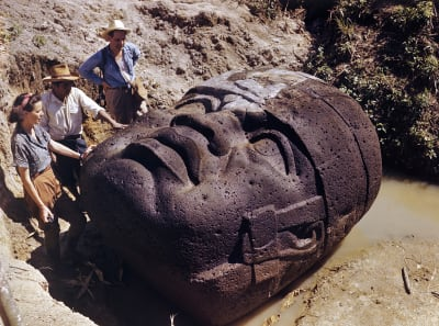 Olmec Colossal Heads - © Attention Deficit Disorder Prosthetic Memory Program