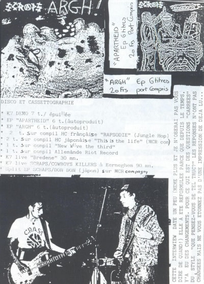 Punk Zines - © Attention Deficit Disorder Prosthetic Memory Program