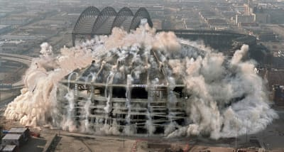Seattle Kingdome Demolition - © Attention Deficit Disorder Prosthetic Memory Program