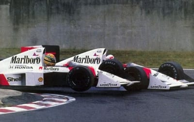 Senna vs Prost Suzuka showdown 1989 - © Attention Deficit Disorder Prosthetic Memory Program