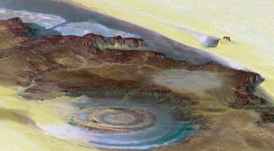 The Richat Structure - © Attention Deficit Disorder Prosthetic Memory Program