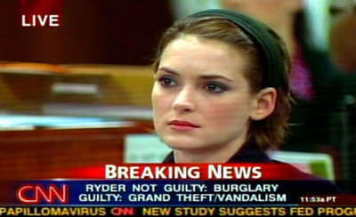 Winona Ryder Shoplifting - © Attention Deficit Disorder Prosthetic Memory Program