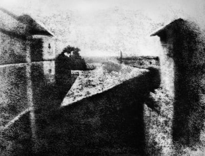 World's First Photograph - © Attention Deficit Disorder Prosthetic Memory Program
