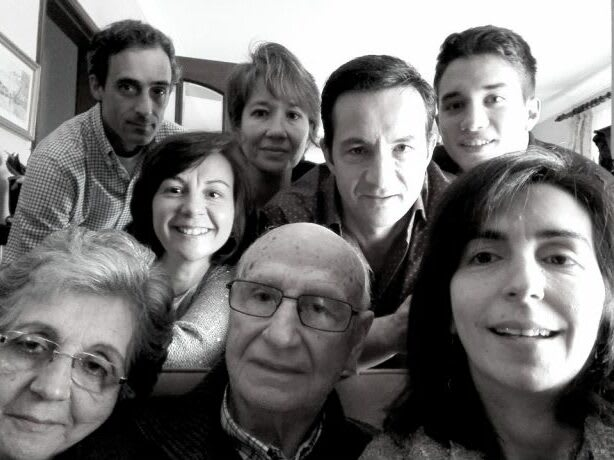 Luís Oliveira e a família