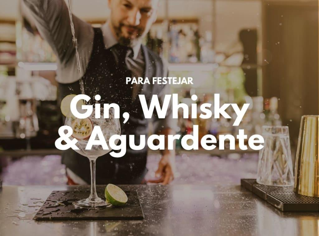 O melhor gin, whisky e aguardente para o natal