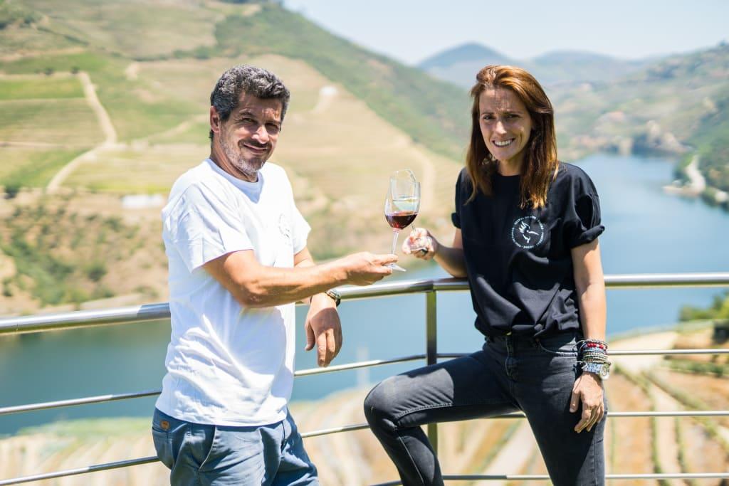 Stephane e Vanessa Ferreira da Quinta do Pôpa no Douro