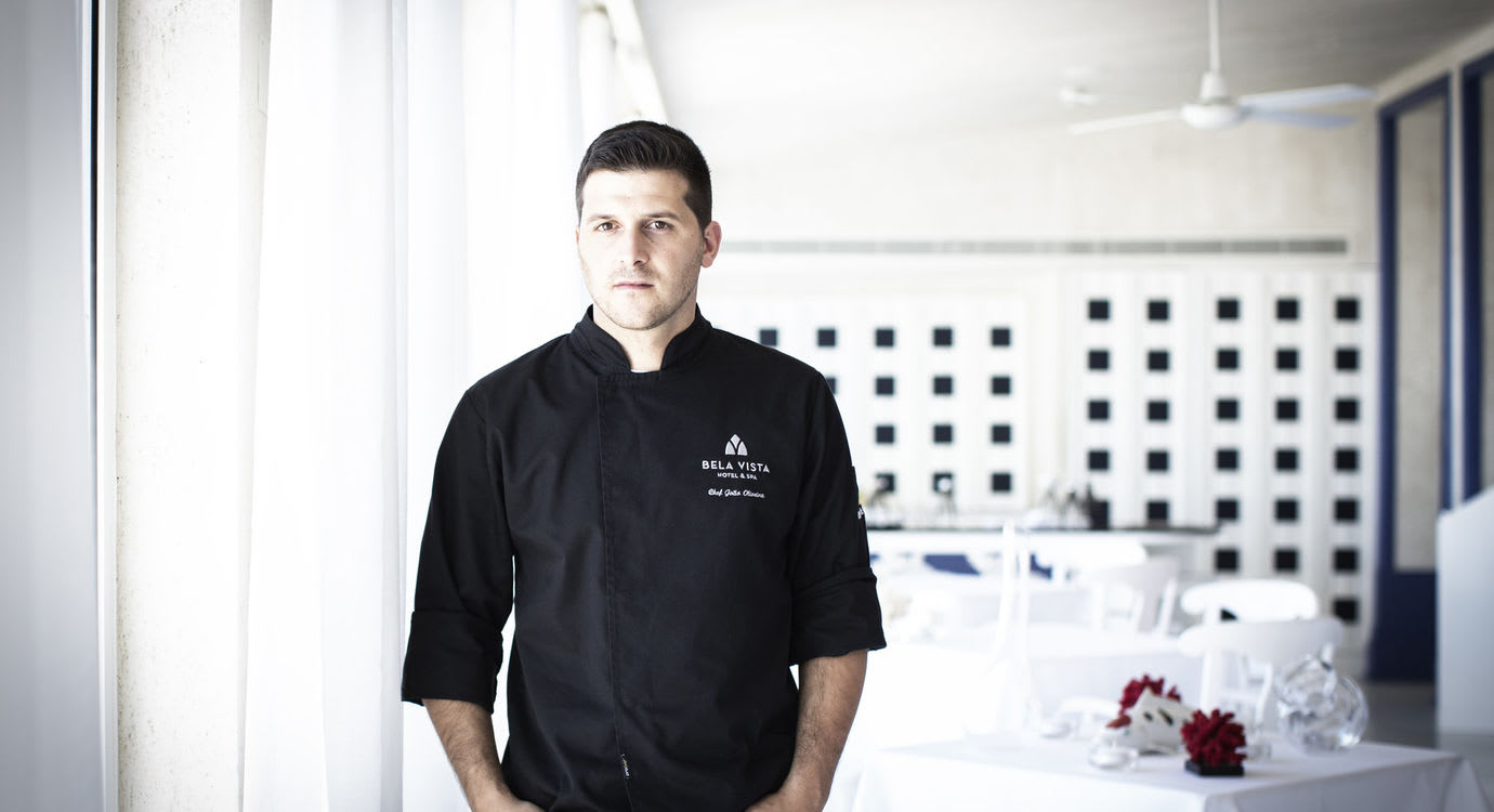Chef João Oliveira do restaurante Estrela Michelin Vista no Algarve
