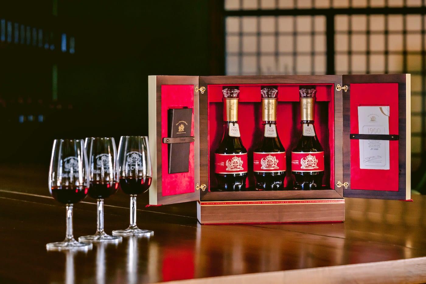 Coleção Rara de Vinho do Porto Very Old Tawny 1900, 1908 e 1927