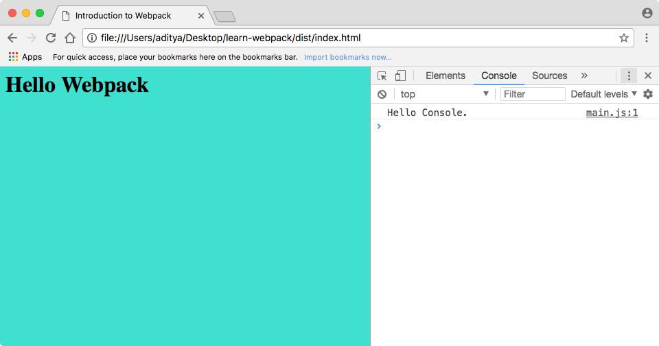 learn-webpack Screenshot