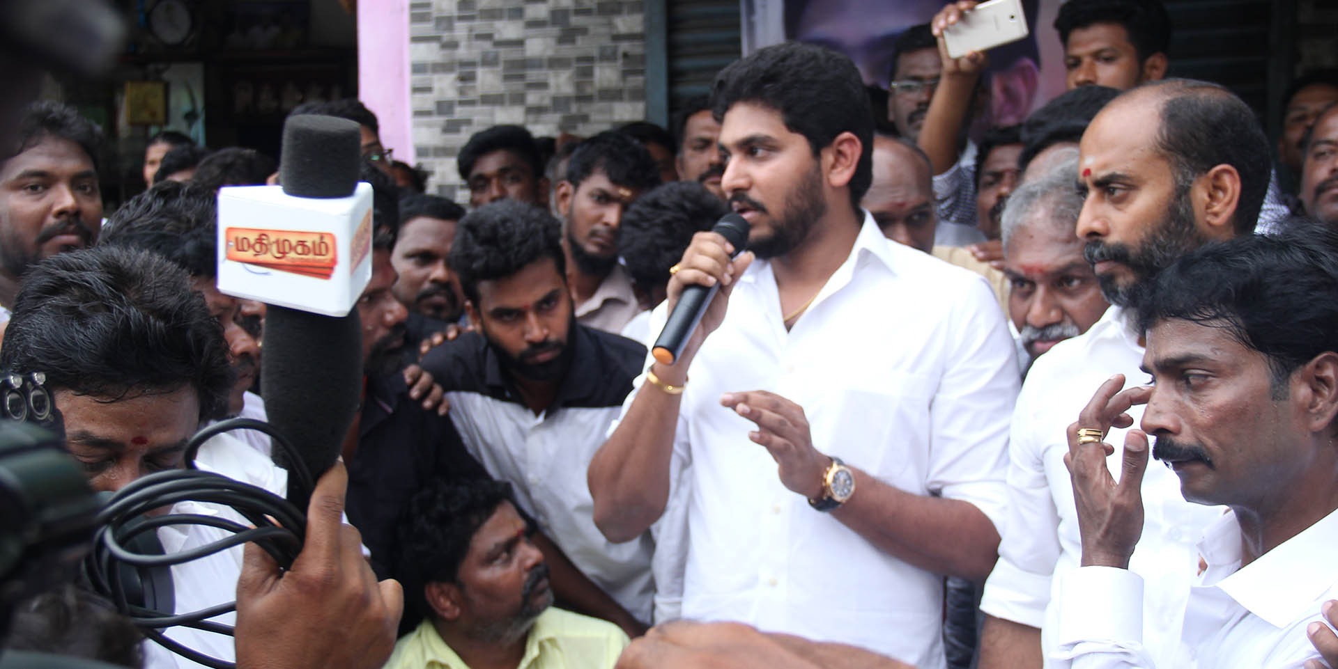 Jeyanandh Dhivaharan speech on human chain protest to save fishermen and our marine life
