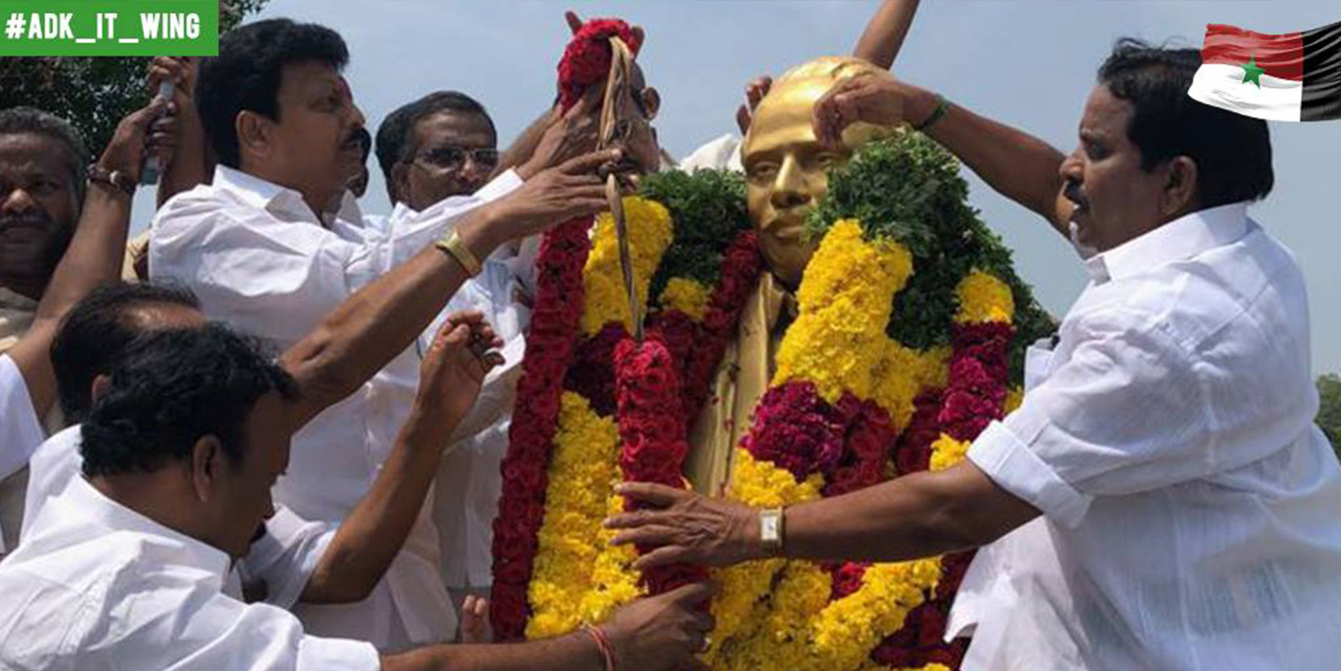Dr V Dhivaharan pays tribute to Arignar Anna at his birth anniversary