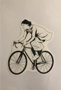Sticker Coleccionable Virginia Woolf