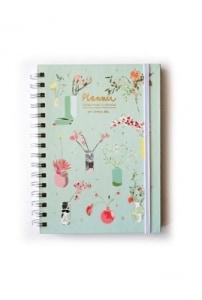 Planner Camila León - Menta - Flores para tu semana
