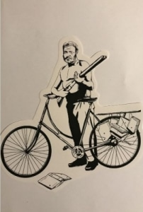 Sticker Coleccionable Ernest Hemingway