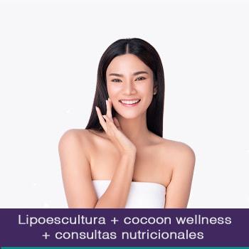 Lipoescultura sin cirugía + Cocoon wellness pro cápsula detox +  Consultas nutricionales