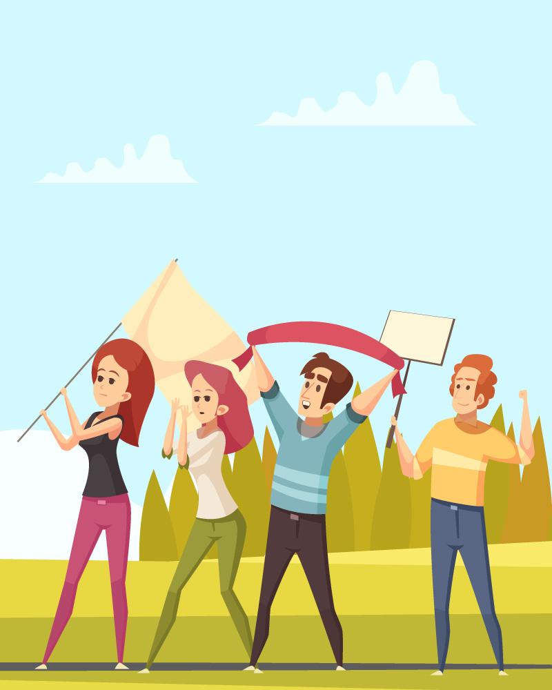 Imagen de la temática Las protestas sociales
