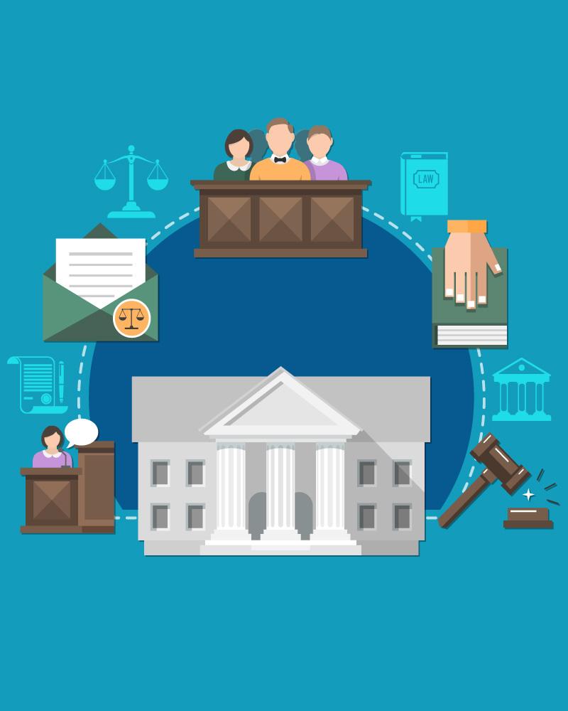 Imagen de la temática Sistema Judicial en Chile