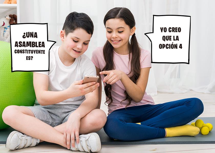 Niños contestando una trivia