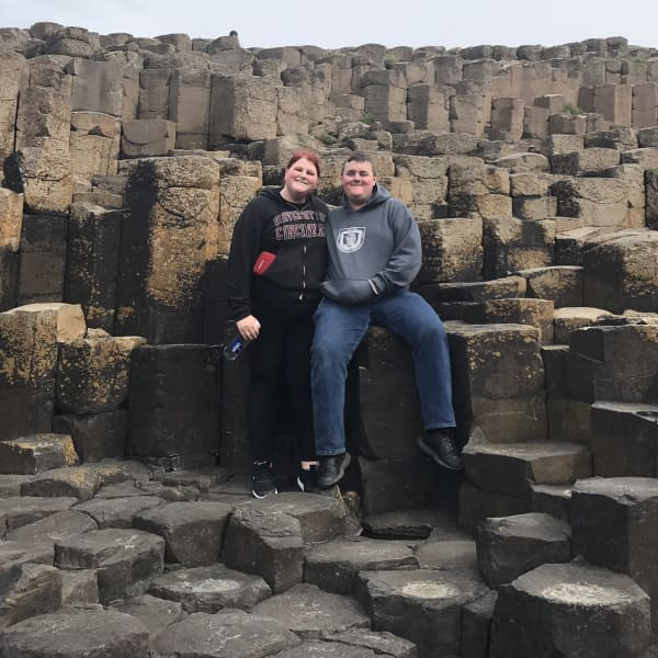 Together at Giant's Causeway in Northern Ireland