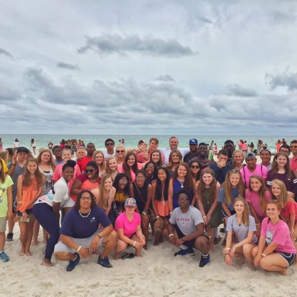 Traveling with our church high school students to the beach