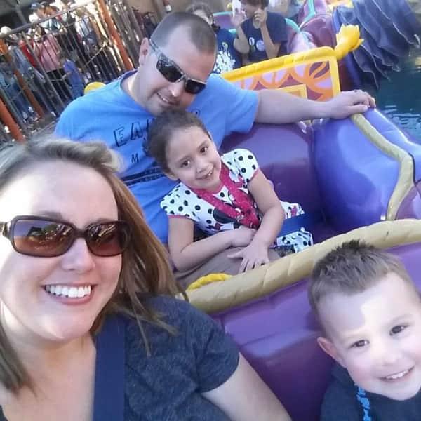 Enjoying the rides at Disney World