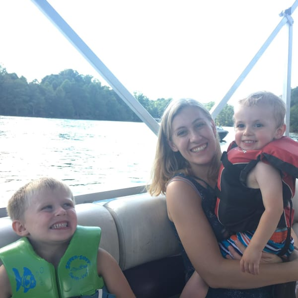 Family trip to the lake! Our nephew, Kim, and Lucas.