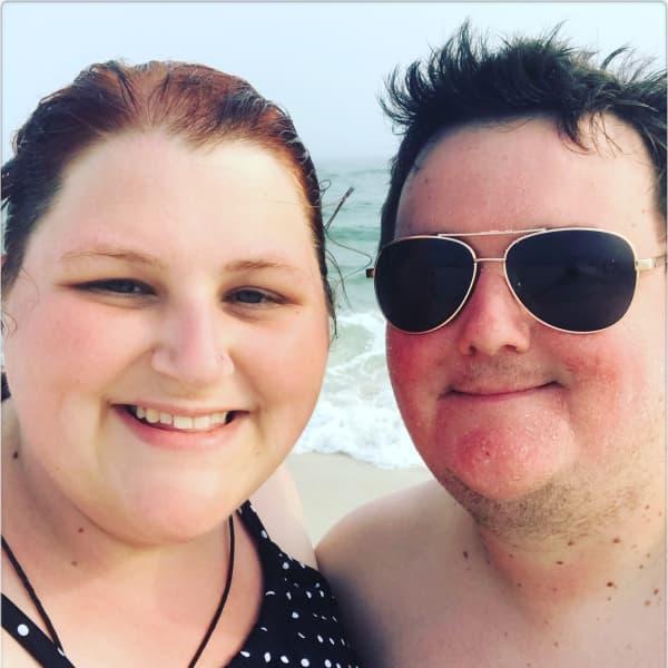 At the beach in Pensacola Florida.