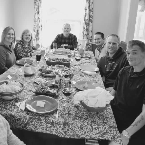 With family and friends in our home for Thanksgiving