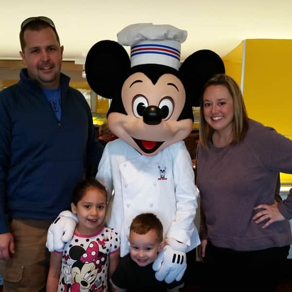 The kids loved Chef Mickey at Disney World!