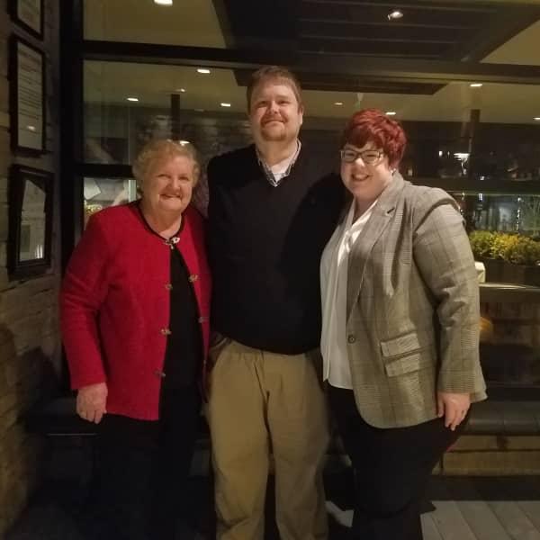 With Jason's mom for a nice dinner on Christmas Eve!