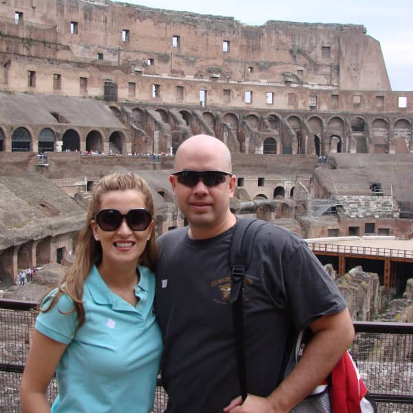 Ellie and Ben at Roman Colosseum