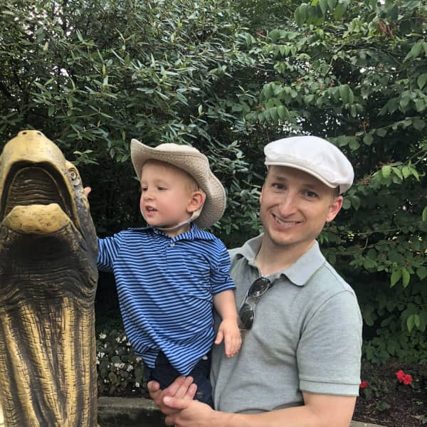 Alan and Miles at the zoo