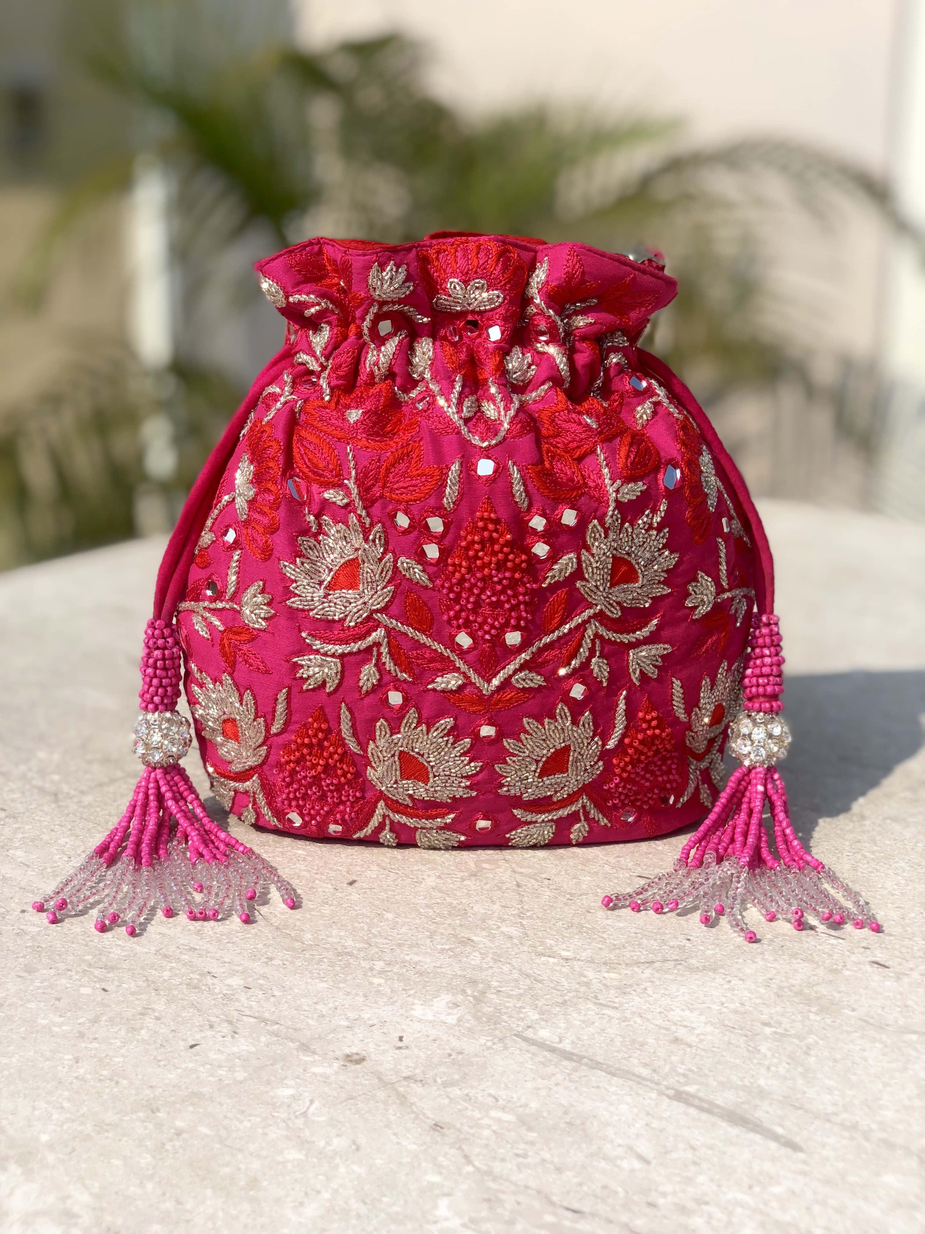 image of Fuschia Keya Bucket Bag