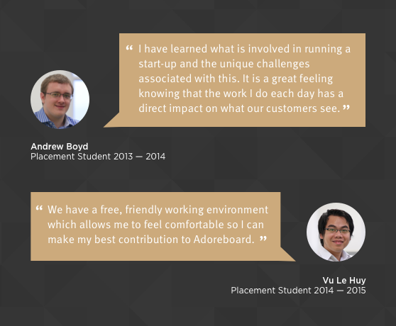 Student Placements at Adoreboard, Belfast