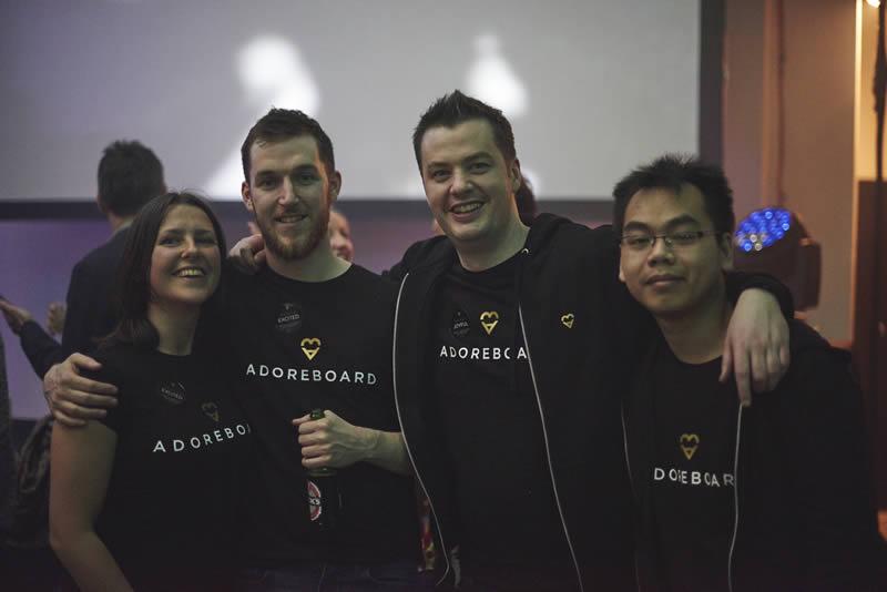 Team Adoreboard: Carley, Rory, Chris & Vu
