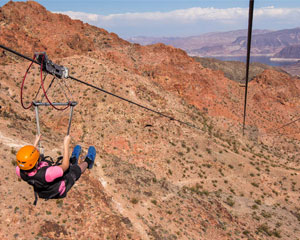 Grand Canyon Helicopter Tour & Bootleg Canyon Zipline Adventure - 70 Minute Flight (FREE ROUND TRIP SHUTTLE FROM HOTEL!)