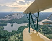 Biplane Ride Atlanta, Downtown, Stone Mountain and Lake Lanier Tour - 60 Minutes
